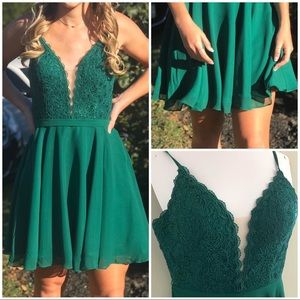 Pine Green Alyce Paris Homecoming/Prom Dress